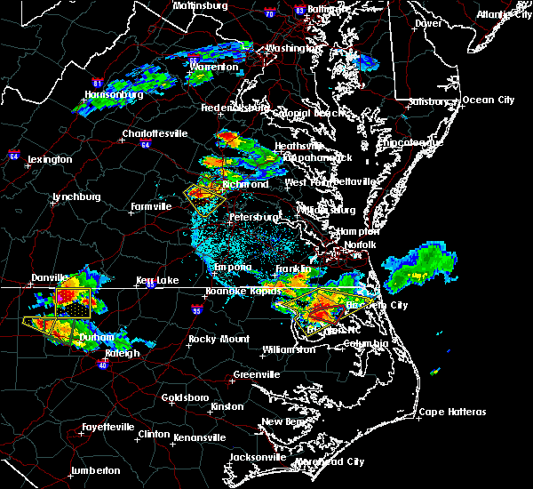 Radar Image for Severe Thunderstorms near South Mills, NC at 6/25/2015 7:08 PM EDT