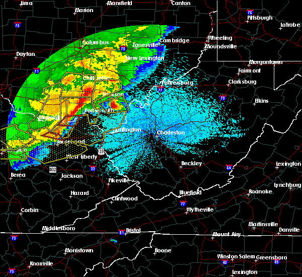 Radar Image for Severe Thunderstorms near Portsmouth, OH at 4/9/2020 12:11 AM EDT