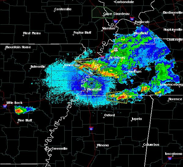 Radar Image for Severe Thunderstorms near Osceola, AR at 4/8/2020 11:18 PM CDT