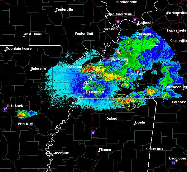 Radar Image for Severe Thunderstorms near Middleton, TN at 4/8/2020 11:21 PM CDT