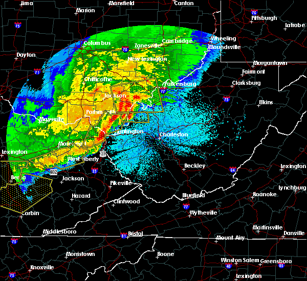 Radar Image for Severe Thunderstorms near Gallipolis, OH at 4/9/2020 12:34 AM EDT