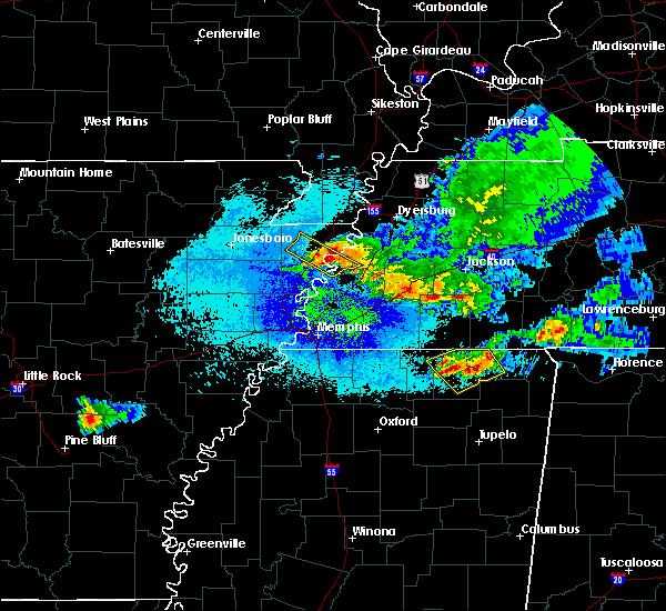Radar Image for Severe Thunderstorms near Osceola, AR at 4/8/2020 11:36 PM CDT