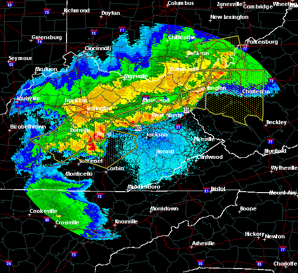 Radar Image for Severe Thunderstorms near McKee, KY at 4/9/2020 12:49 AM EDT