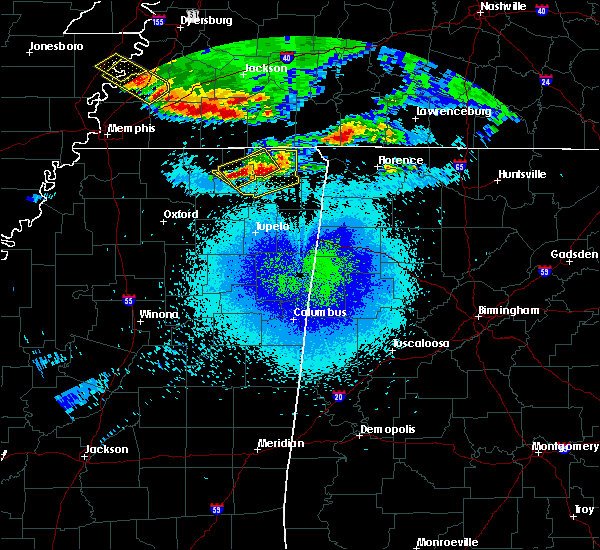 Radar Image for Severe Thunderstorms near Rienzi, MS at 4/8/2020 11:55 PM CDT