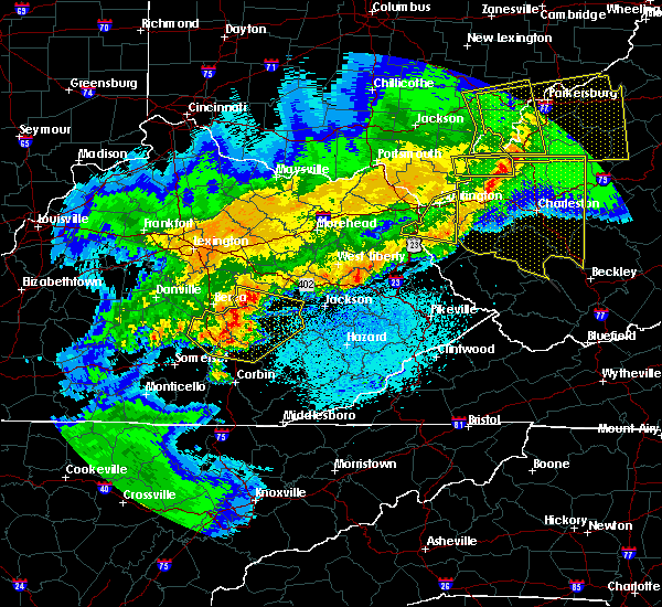 Radar Image for Severe Thunderstorms near McKee, KY at 4/9/2020 12:59 AM EDT