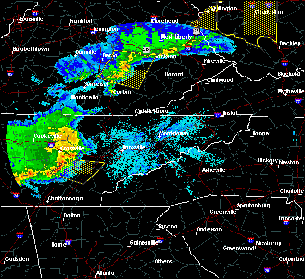 Radar Image for Severe Thunderstorms near Decatur, TN at 4/9/2020 1:09 AM EDT