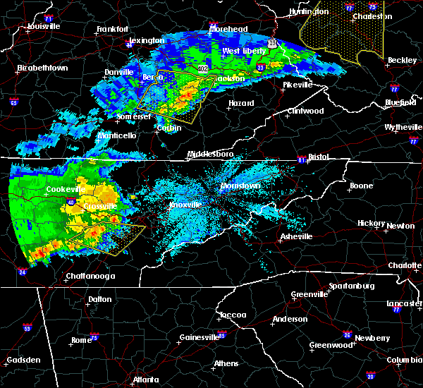 Radar Image for Severe Thunderstorms near Decatur, TN at 4/9/2020 1:22 AM EDT