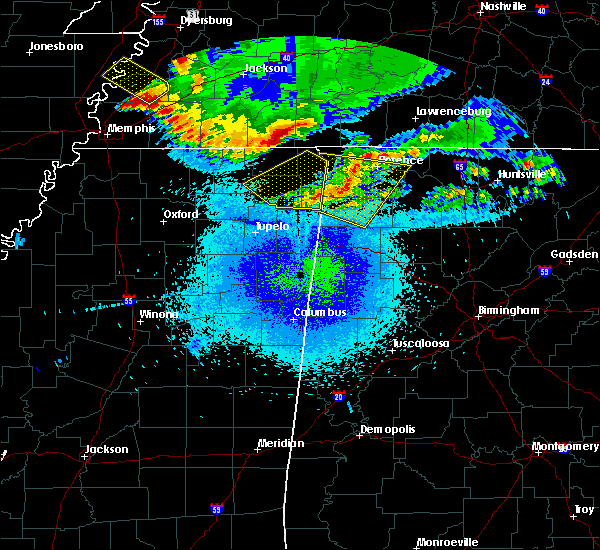 Radar Image for Severe Thunderstorms near Corinth, MS at 4/9/2020 12:34 AM CDT