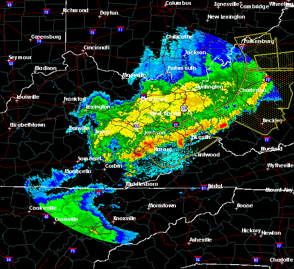 Radar Image for Severe Thunderstorms near Prestonsburg, KY at 4/9/2020 1:45 AM EDT