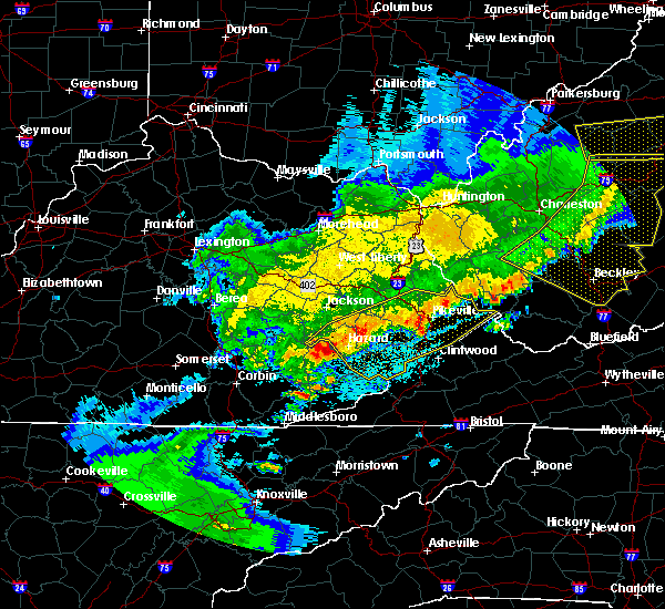 Radar Image for Severe Thunderstorms near Red Jacket, WV at 4/9/2020 1:55 AM EDT