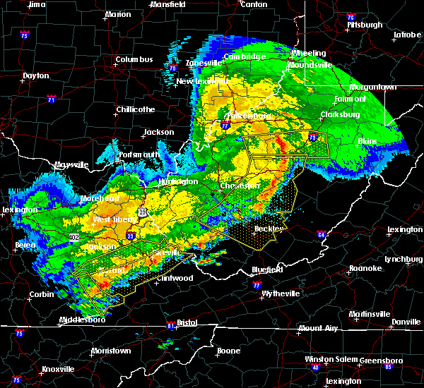 Radar Image for Severe Thunderstorms near Dailey, WV at 4/9/2020 2:07 AM EDT