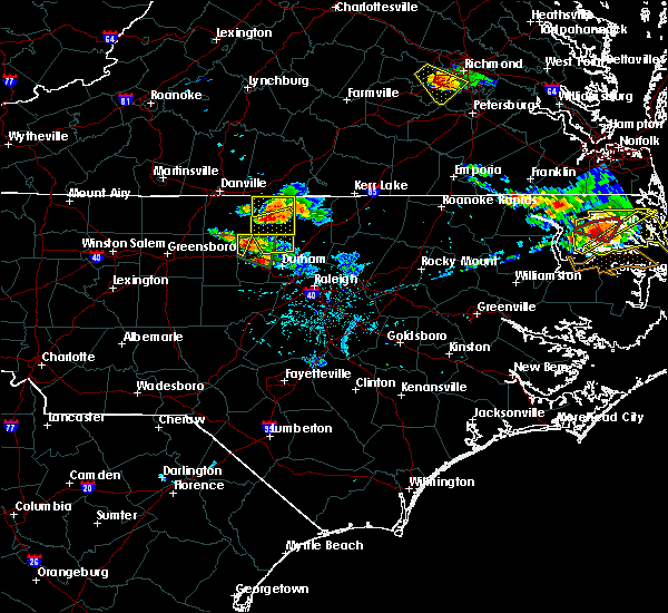 Radar Image for Severe Thunderstorms near Durham, NC at 6/25/2015 7:16 PM EDT