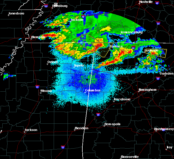 Radar Image for Severe Thunderstorms near Corinth, MS at 4/9/2020 1:13 AM CDT
