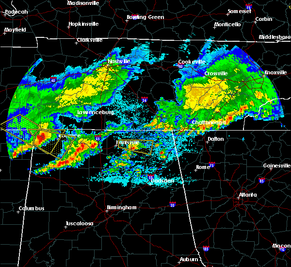 Radar Image for Severe Thunderstorms near Gurley, AL at 4/9/2020 1:18 AM CDT