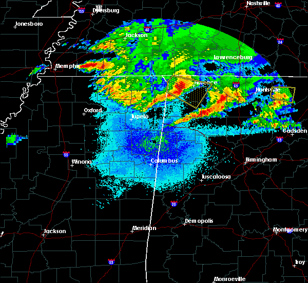 Radar Image for Severe Thunderstorms near Littleville, AL at 4/9/2020 1:29 AM CDT