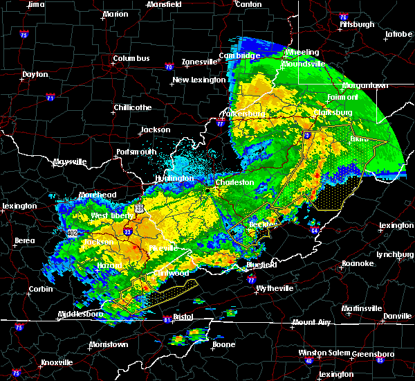 Radar Image for Severe Thunderstorms near Dailey, WV at 4/9/2020 2:33 AM EDT