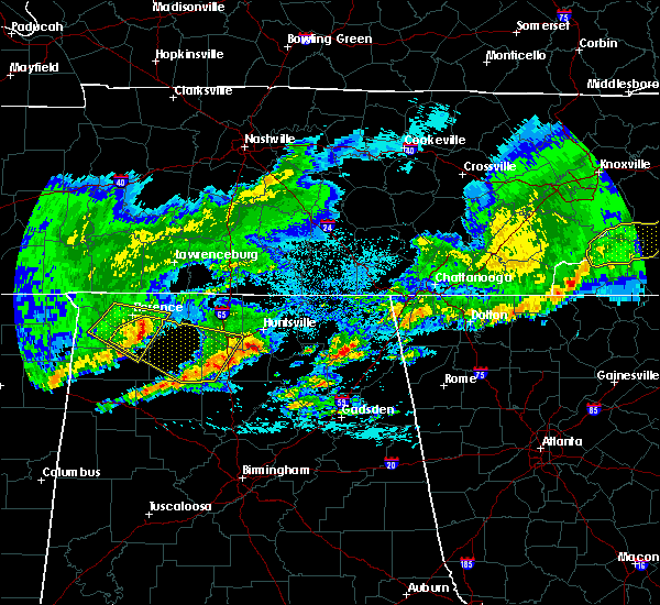 Radar Image for Severe Thunderstorms near Guntersville, AL at 4/9/2020 1:42 AM CDT