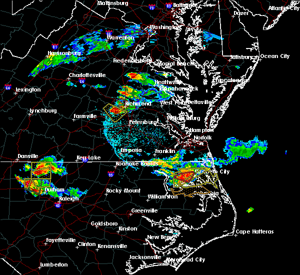 Radar Image for Severe Thunderstorms near Hopewell, VA at 6/25/2015 7:17 PM EDT
