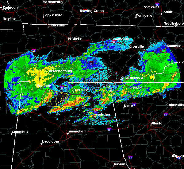 Radar Image for Severe Thunderstorms near New Hope, AL at 4/9/2020 2:07 AM CDT