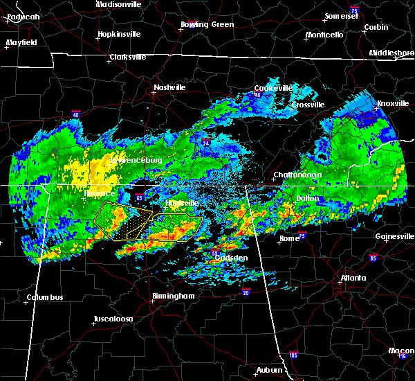 Radar Image for Severe Thunderstorms near Huntsville, AL at 4/9/2020 2:09 AM CDT