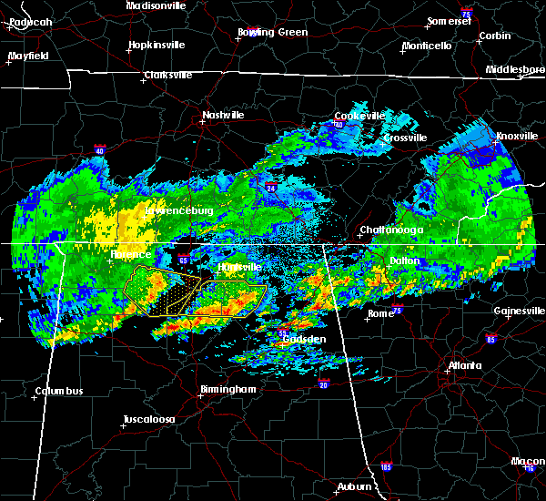 Radar Image for Severe Thunderstorms near Guntersville, AL at 4/9/2020 2:08 AM CDT
