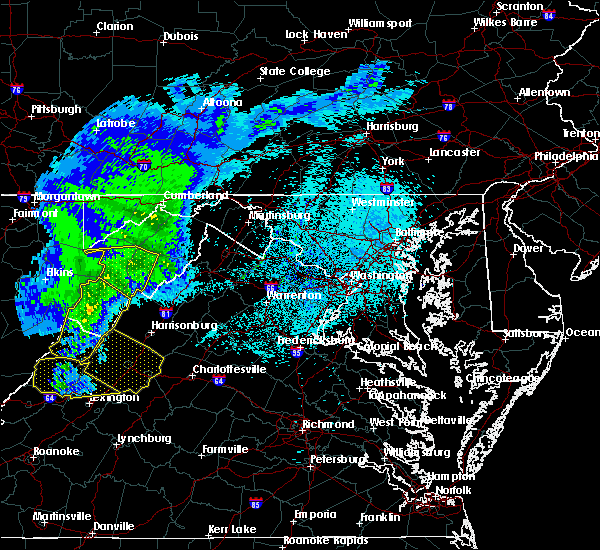 Radar Image for Severe Thunderstorms near Petersburg, WV at 4/9/2020 3:23 AM EDT