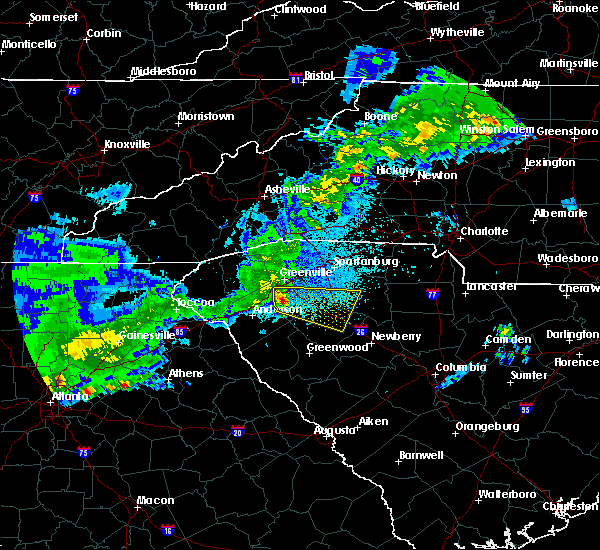 Radar Image for Severe Thunderstorms near Laurens, SC at 4/9/2020 4:41 AM EDT