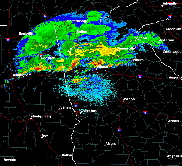 Radar Image for Severe Thunderstorms near Chattahoochee Hills, GA at 4/9/2020 4:43 AM EDT