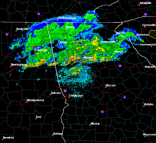 Radar Image for Severe Thunderstorms near Chattahoochee Hills, GA at 4/9/2020 5:10 AM EDT