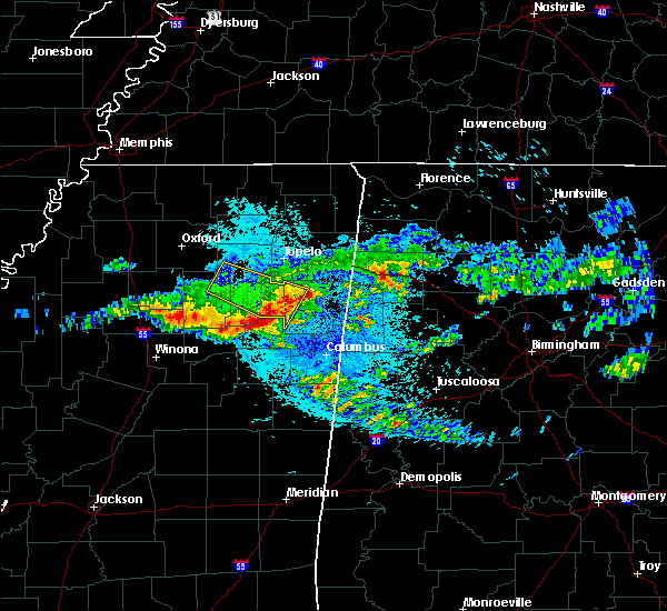 Radar Image for Severe Thunderstorms near Mississippi State, MS at 4/9/2020 4:28 AM CDT