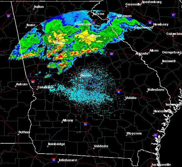 Radar Image for Severe Thunderstorms near Macon, GA at 4/9/2020 5:43 AM EDT