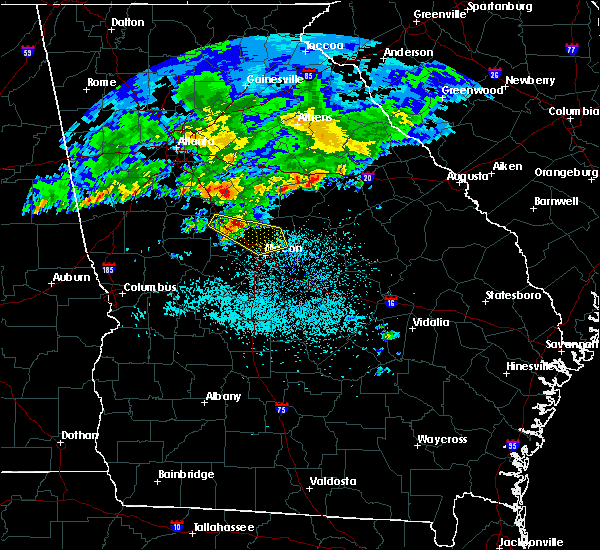 Radar Image for Severe Thunderstorms near Macon, GA at 4/9/2020 5:53 AM EDT