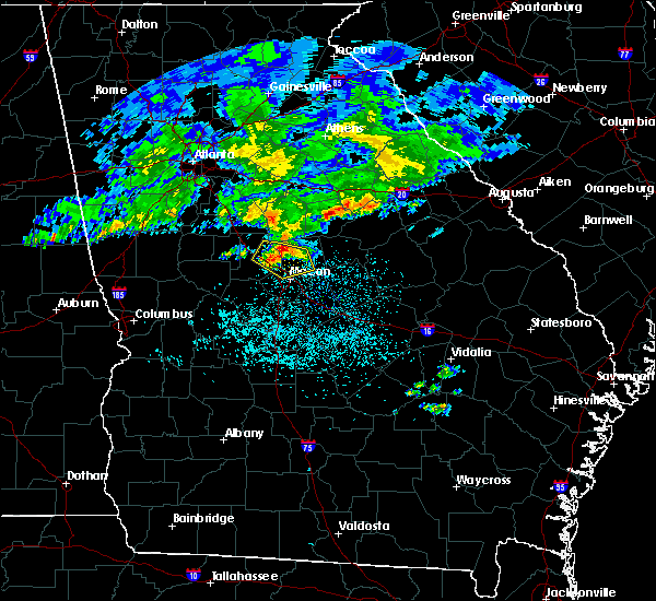 Radar Image for Severe Thunderstorms near Macon, GA at 4/9/2020 6:03 AM EDT