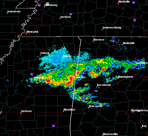 Radar Image for Severe Thunderstorms near Ethelsville, AL at 4/9/2020 5:04 AM CDT