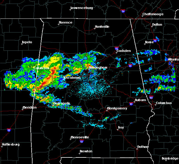 Radar Image for Severe Thunderstorms near Brookwood, AL at 4/9/2020 5:38 AM CDT