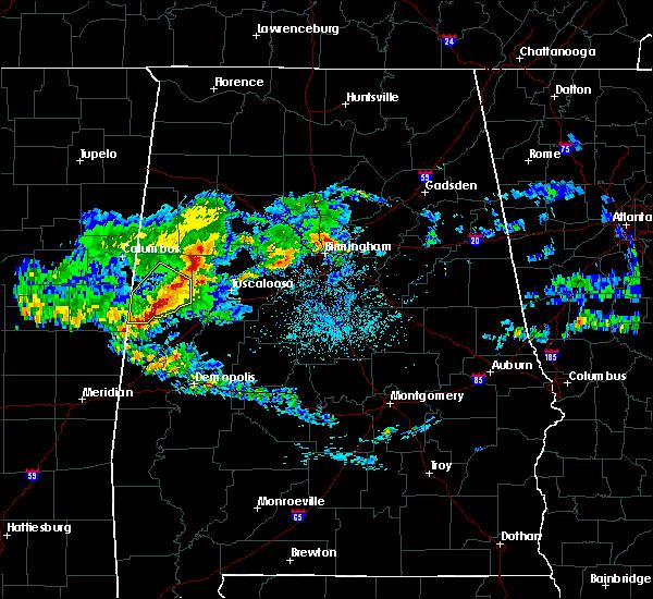 Radar Image for Severe Thunderstorms near Demopolis, AL at 4/9/2020 5:38 AM CDT