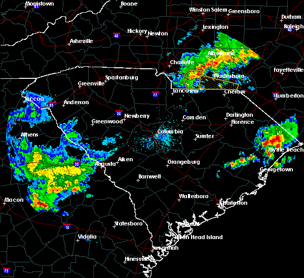 Radar Image for Severe Thunderstorms near Wingate, NC at 4/9/2020 6:43 AM EDT
