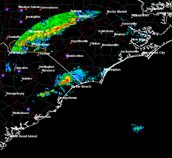 Radar Image for Severe Thunderstorms near Ocean Isle Beach, NC at 4/9/2020 6:47 AM EDT