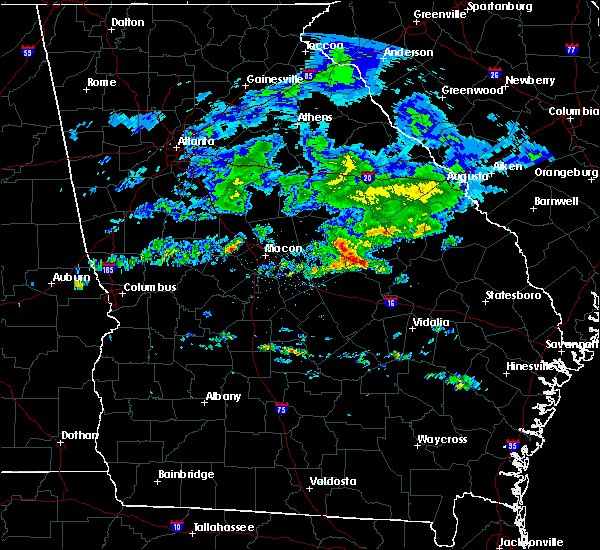 Radar Image for Severe Thunderstorms near Swainsboro, GA at 4/9/2020 6:57 AM EDT