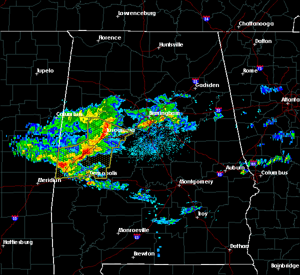 Radar Image for Severe Thunderstorms near Brookwood, AL at 4/9/2020 6:01 AM CDT