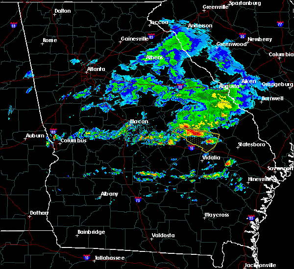 Radar Image for Severe Thunderstorms near Stillmore, GA at 4/9/2020 7:18 AM EDT
