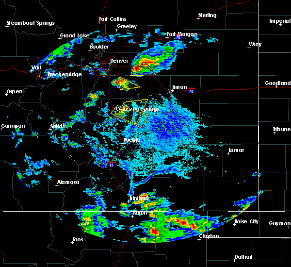 Radar Image for Severe Thunderstorms near Black Forest, CO at 6/25/2015 5:25 PM MDT