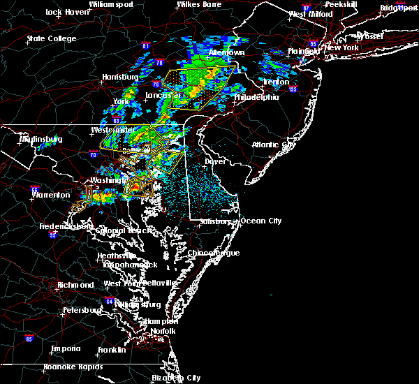 Radar Image for Severe Thunderstorms near Edgewood, MD at 4/9/2020 12:54 PM EDT