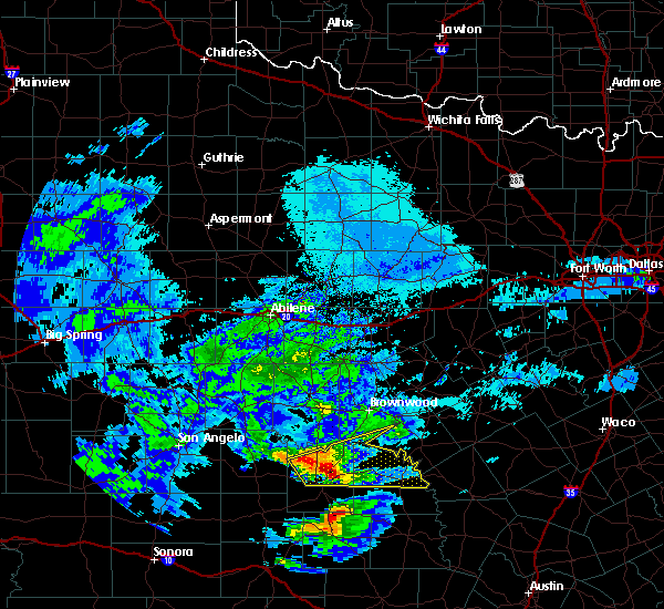 Radar Image for Severe Thunderstorms near Richland Springs, TX at 4/9/2020 12:17 PM CDT