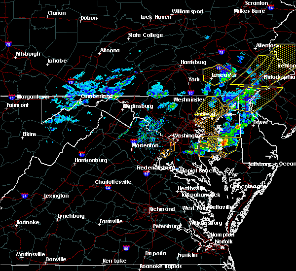 Radar Image for Severe Thunderstorms near Cockeysville, MD at 4/9/2020 1:19 PM EDT