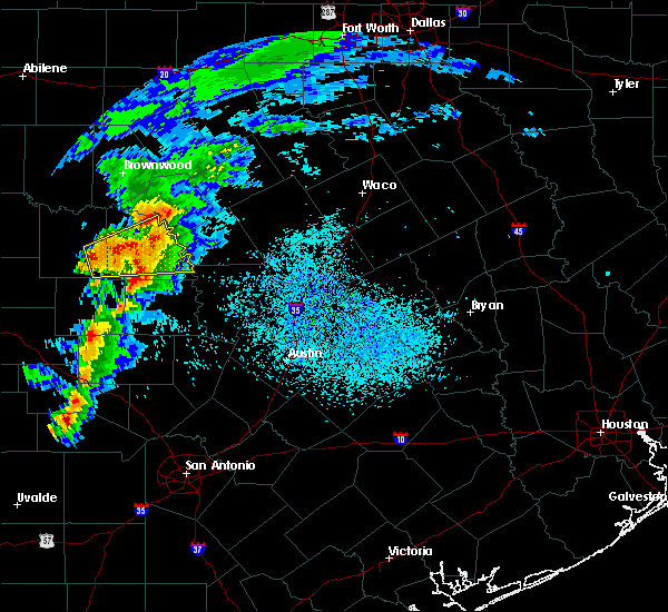 Radar Image for Severe Thunderstorms near Richland Springs, TX at 4/9/2020 1:06 PM CDT