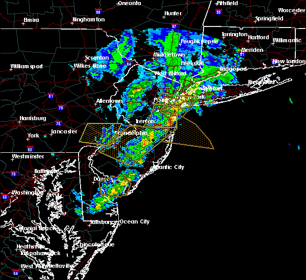 Radar Image for Severe Thunderstorms near Hightstown, NJ at 4/9/2020 2:12 PM EDT