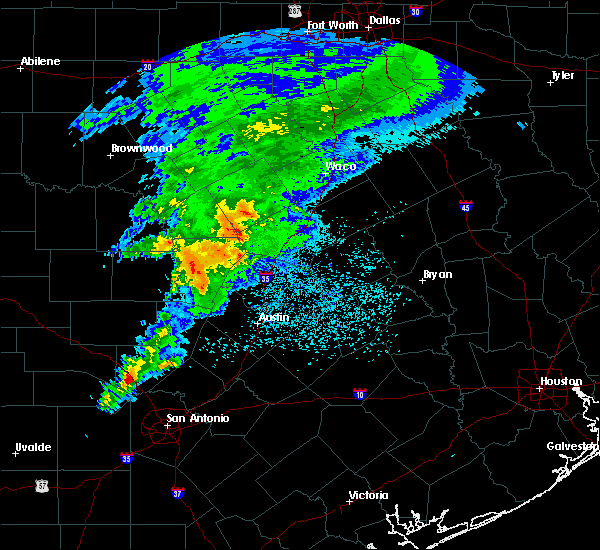 Radar Image for Severe Thunderstorms near Round Rock, TX at 4/9/2020 2:26 PM CDT