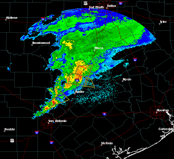Radar Image for Severe Thunderstorms near Thorndale, TX at 4/9/2020 2:57 PM CDT