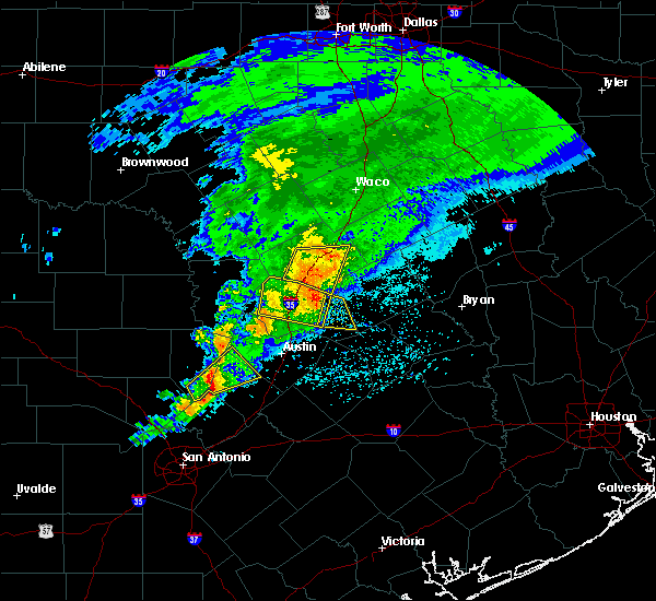Radar Image for Severe Thunderstorms near Round Rock, TX at 4/9/2020 3:03 PM CDT